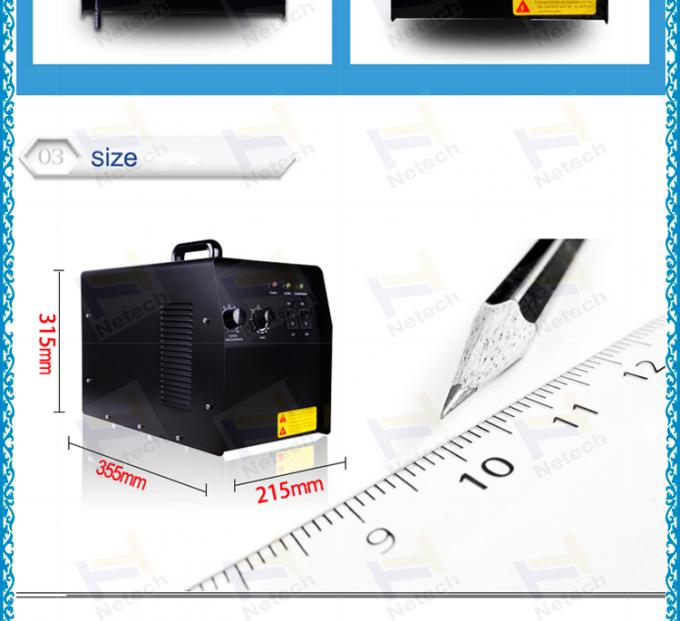 High purity Air cleaning hotel ozone machine car / room