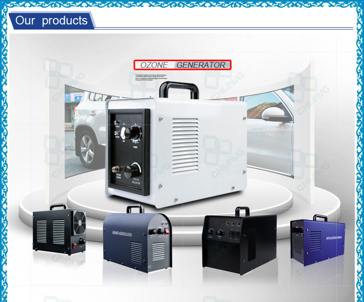 3g / 5g Air Cooling System Portable Ozone Generator / Ozonated Water Machine