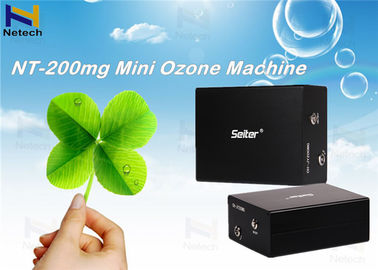 Black  Mini 200mg Commercial Ozone Generator Automatic Fault Detection For Sterilizer